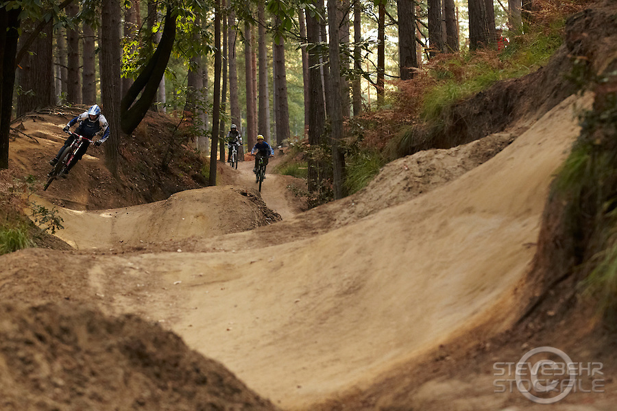 Sandy Cutting jump gulley , Swinley Forest , Bracknell , Berks    October 2011 pic copyright Steve Behr / Stockfile