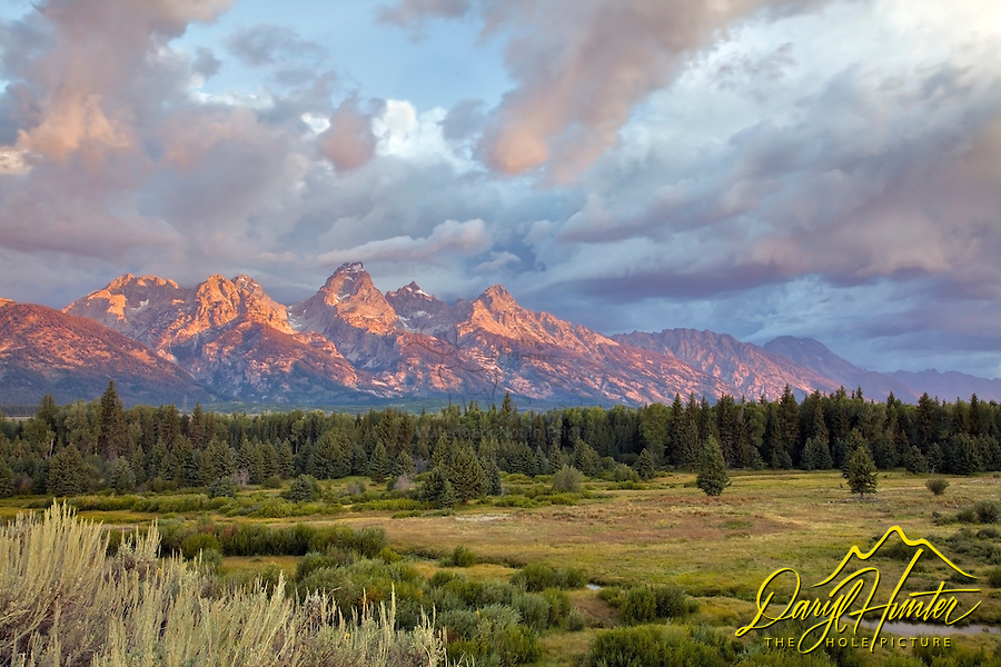 Grand Teton Sunrise over Moose Flats in Grand Teton National Park.