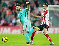 Athletic de Bilbao's Ander Iturraspe (r) and FC Barcelona's Andre Gomes during La Liga match. October 28,2017. (ALTERPHOTOS/Acero) /NortePhoto.com
