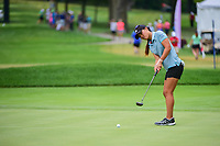 Danielle Kang (USA) watches her putt on 17 during Friday's round 2 of the 2017 KPMG Women's PGA Championship, at Olympia Fields Country Club, Olympia Fields, Illinois. 6/30/2017.<br /> Picture: Golffile | Ken Murray<br /> <br /> <br /> All photo usage must carry mandatory copyright credit (&copy; Golffile | Ken Murray)