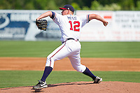 Starting pitcher Tyler Hess #12 of the Rome Braves in action against the Hagerstown Suns at State Mutual Stadium on May 2, 2011 in Rome, Georgia.   Photo by Brian Westerholt / Four Seam Images