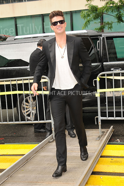WWW.ACEPIXS.COM . . . . . .May 15, 2012...New York City....Robin Thicke arriving to Lincoln Center on May 15, 2012  in New York City ....Please byline: KRISTIN CALLAHAN - ACEPIXS.COM.. . . . . . ..Ace Pictures, Inc: ..tel: (212) 243 8787 or (646) 769 0430..e-mail: info@acepixs.com..web: http://www.acepixs.com .