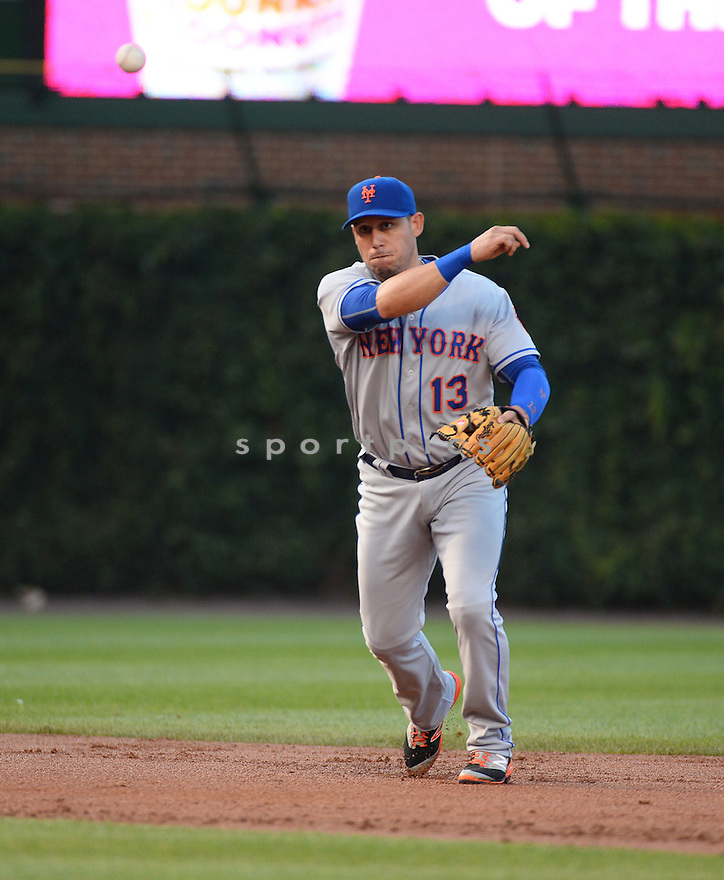 New York Mets Asdrubal Cabrera (13) during a game against the Chicago Cubs on July 19, 2016 at Wrigley Field in Chicago, IL. The Mets beat the Cubs 2-1.