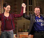 Katie Holmes & Norbert Leo Butz during Broadway Opening Night Performance Curtain Call for 'Dead Accounts' at the Music Box Theatre in New York City. November 29, 2012.