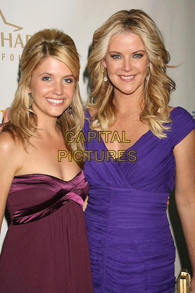 GABRIELLE CHRISTIANSAN & MAEVE QUINLAN.19th Annual Glaad Media Awards held at the Kodak Theatre, Hollywood, California, USA, 26 April 2008..half length purple dress .CAP/ADM/RE.©Russ Elliot/Admedia/Capital PIctures