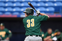 Siena Saints catcher Nick Duarte (33) at bat during the second game of a doubleheader against the Michigan Wolverines on February 27, 2015 at Tradition Field in St. Lucie, Florida.  Michigan defeated Siena 6-0.  (Mike Janes/Four Seam Images)