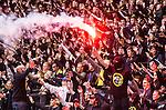 ***BETALBILD***  <br /> Solna 2015-05-31 Fotboll Allsvenskan AIK - Helsingborgs IF :  <br /> AIK:s supportrar med en bengal under matchen mellan AIK och Helsingborgs IF <br /> (Foto: Kenta J&ouml;nsson) Nyckelord:  AIK Gnaget Friends Arena Allsvenskan Helsingborg HIF supporter fans publik supporters bengal bengaler