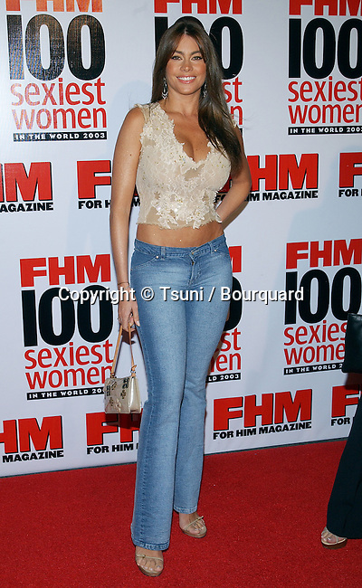 "Sofia Vergara arriving at the ""  FHM - Sexist Party of The Year "" at the Raleigh Studios in Los Angeles. June 5, 2003."