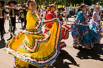 Native Mexican Dancing in a Parade, Hood RIver, Oregon