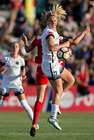 Boyds, MD. - Saturday, June 24 2017:  Lindsey Horan during a regular season National Women's Soccer League (NWSL) match between the Washington Spirit and the Portland Thorns FC at Maureen Hendricks Field, Maryland SoccerPlex.<br />  The Washington Spirit defeated the Portland Thorns FC 1-0.