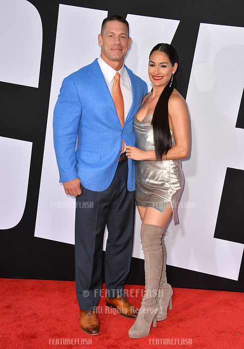 John Cena &amp; Nikki Bella at the premiere for &quot;Blockers&quot; at the Regency Village Theatre, Los Angeles, USA 03 April 2018<br /> Picture: Paul Smith/Featureflash/SilverHub 0208 004 5359 sales@silverhubmedia.com
