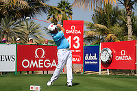 Damien McGrane (IRL) tees off on the 14th tee during Saturday's  Round 3 of the 2012 Omega Dubai Desert Classic at Emirates Golf Club Majlis Course, Dubai, United Arab Emirates, 11th February 2012(Photo Eoin Clarke/www.golffile.ie)
