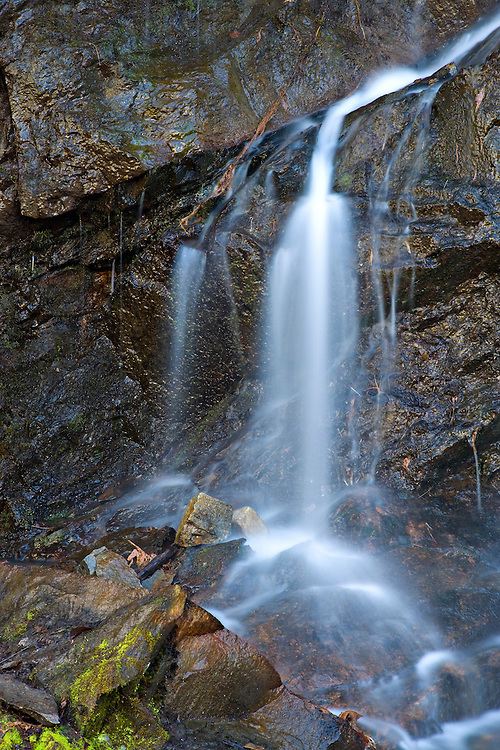 Waterfall along the Middle Prong of the Little River; Great Smoky Mountains National Park, TN