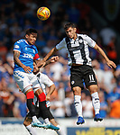 25.08.2019 St Mirren v Rangers: James Tavernier and Ilkay Durmus