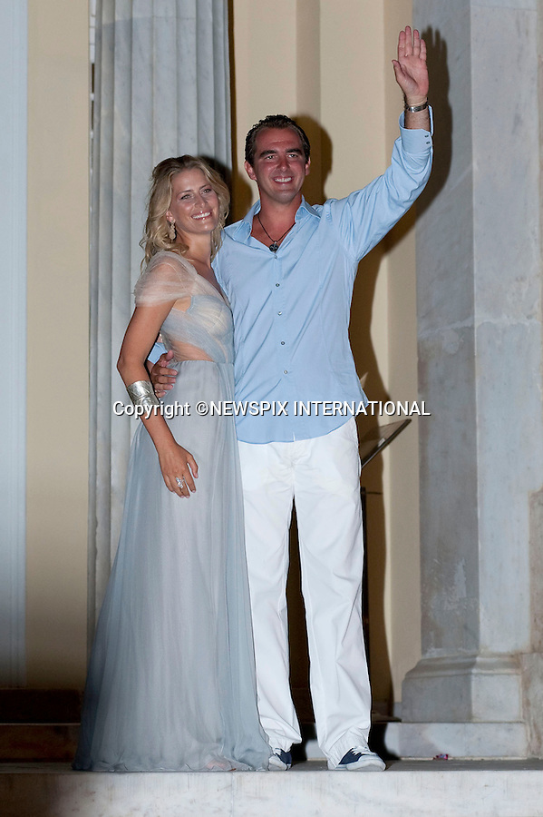 "PRINCE NIKOLAOS AND TATIANA BLATNIK_.A pre-Wedding eveing party on the island of Spetses prior to their wedding tomorrow at St Nikolaos Church_24/08/2010.Mandatory Credit Photo: ©DIAS-NEWSPIX INTERNATIONAL..**ALL FEES PAYABLE TO: ""NEWSPIX INTERNATIONAL""**..IMMEDIATE CONFIRMATION OF USAGE REQUIRED:.Newspix International, 31 Chinnery Hill, Bishop's Stortford, ENGLAND CM23 3PS.Tel:+441279 324672  ; Fax: +441279656877.Mobile:  07775681153.e-mail: info@newspixinternational.co.uk"
