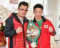 Boxing: Interim WBC bantamweight champion Takuma Inoue attends press conference
