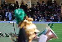 ATENCAO EDITOR: FOTO EMBARGADA PARA VEICULOS INTERNACIONAIS - BRASILIA, DF, 07 SETEMBRO 2012 - DESFILE 7 SETEMBRO - Presidente Dilma Rousseff durante desfile Civico-Militar em comemoracao ao Dia 7 de Setembro na cidade de Brasilia  na manha dessa sexta-feira. FOTO: VANESSA CARVALHO - BRAZIL PHOTO PRESS.