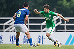 Igor Torres Sartori of Wofoo Tai Po (R) in action during the week three Premier League match between BC Rangers and Wofoo Tai Po at Sham Shui Po Sports Ground on September 17, 2017 in Hong Kong, China. Photo by Marcio Rodrigo Machado / Power Sport Images