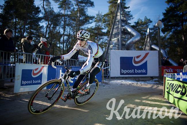 U23 World Champion Michael Vanthourenhout (BEL/Sunweb-Napoleon Games) racing his rainbow jersey for the very first time<br /> <br /> U23 race<br /> Krawatencross <br /> bpost bank trofee 2015