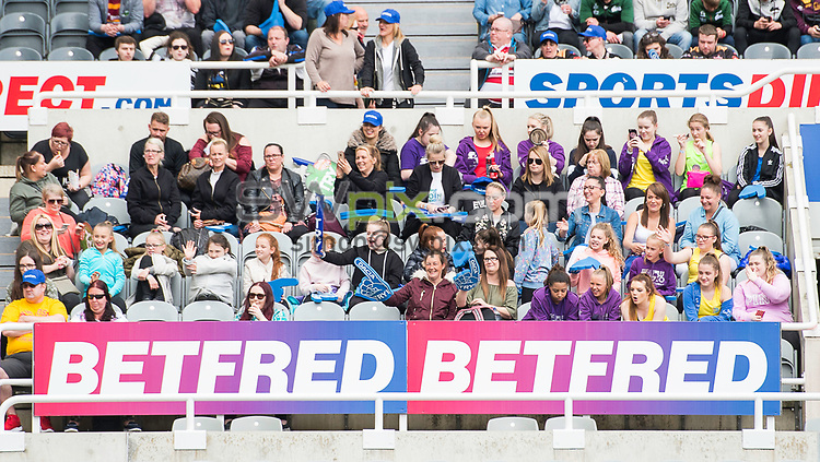 Picture by Allan McKenzie/SWpix.com - 21/05/2017 - Rugby League - Dacia Magic Weekend - Huddersfield Giants v Catalan Dragons - St James' Park, Newcastle, England - The brief, Betfred, fans, supporters, branding.