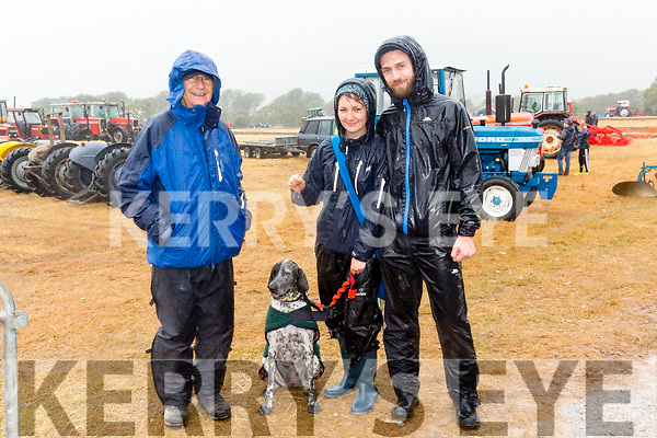 l-r  Denis Hartnett, Killarney, Caroline Hartnett, Killarney, Joey Weeks, Killarney with Olive a contander in the dog show. at the South Kerry Ploughing match and Family Fun Day on Sunday