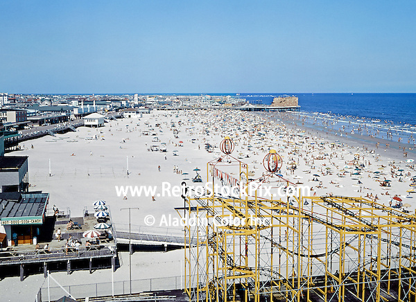 Retro Wildwood New Jersey Boardwalk And Beach In The 1970s