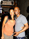 Renee Elise Goldsberry and Leslie Odom, Jr. star in Broadway's sold out show - Hamilton - An American Musical on August 21, 2015 at the Richard Rodgers Theatre, New York City.  (Photos by Sue Coflin/Max Photos)