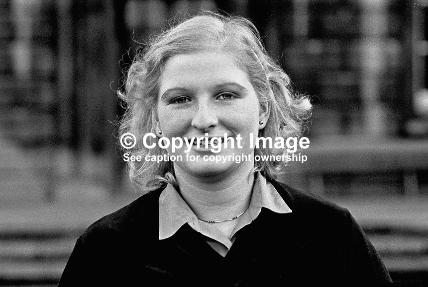 Sile de Valera, Fianna Fail, TD, MP, Mid County Dublin, Rep of Ireland, 25/80, 198001000025a..Copyright Image from Victor Patterson, 54 Dorchester Park, Belfast, UK, BT9 6RJ..Tel: +44 28 9066 1296.Mob: +44 7802 353836.Voicemail +44 20 8816 7153.Skype: victorpattersonbelfast.Email: victorpatterson@mac.com.Email: victorpatterson@ireland.com (back-up)..IMPORTANT: If you wish to use this image or any other of my images please go to www.victorpatterson.com and click on the Terms & Conditions. Then contact me by email or phone with the reference number(s) of the image(s) concerned.