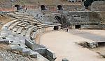 Gladiatorial arena of Circa Romano hippodrome, Merida, Extremadura, Spain