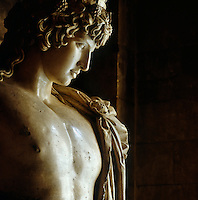 A marble statue in the Great Hall