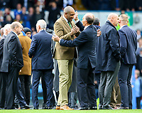Leeds United's legends take to the field before the match<br /> <br /> Photographer Alex Dodd/CameraSport<br /> <br /> The EFL Sky Bet Championship - Leeds United v Birmingham City - Saturday 19th October 2019 - Elland Road - Leeds<br /> <br /> World Copyright © 2019 CameraSport. All rights reserved. 43 Linden Ave. Countesthorpe. Leicester. England. LE8 5PG - Tel: +44 (0) 116 277 4147 - admin@camerasport.com - www.camerasport.com