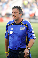 Kansas City Wizards goalkeeper coach John Pascarella. The Philadelphia Union and the Kansas City Wizards played to a 1-1 tie during a Major League Soccer (MLS) match at PPL Park in Chester, PA, on September 04, 2010.