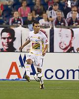Monarcas Morelia midfielder Jaime Lozano (21) passes the ball. The New England Revolution defeated Monarcas Morelia in SuperLiga 2010 group stage match, 1-0, at Gillette Stadium on July 20, 2010.
