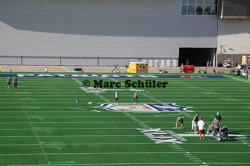 Super Bowl XLIX Spielfeld vor dem University of Phoenix Stadium