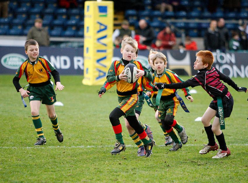 Photo: Richard Lane/Richard Lane Photography. London Wasps v Sale Sharks. 23/12/2012. Tag Rugby.