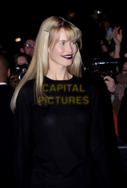 CLAUDIA SCHIFFER.Ref: 6707/2110g.german supermodel, gothic makeup, dark lipstick, fringe, half length, half-length.www.capitalpictures.com.sales@capitalpictures.com.© Capital Pictures.