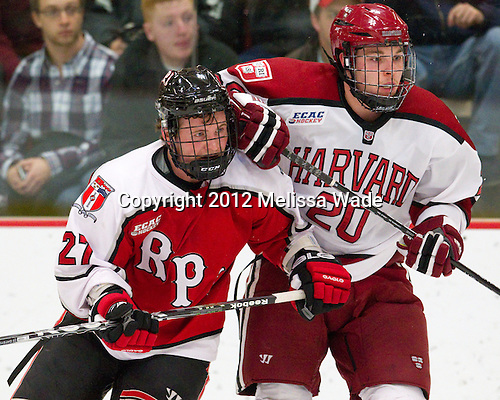 Marty O'Grady (RPI - 27), Ryan McGregor (Harvard - 20) - The Harvard University Crimson defeated the visiting Rensselaer Polytechnic Institute Engineers 4-0 (EN) on Saturday, November 10, 2012, at Bright Hockey Center in Boston, Massachusetts.