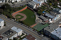 aerial photograph baseball diamond residential neighborhood San Francisco California