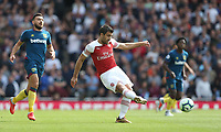 Arsenal's Sokratis Papastathopoulos<br /> <br /> Photographer Rob Newell/CameraSport<br /> <br /> The Premier League - Arsenal v West Ham United - Saturday August 25th 2018 - The Emirates - London<br /> <br /> World Copyright © 2018 CameraSport. All rights reserved. 43 Linden Ave. Countesthorpe. Leicester. England. LE8 5PG - Tel: +44 (0) 116 277 4147 - admin@camerasport.com - www.camerasport.com