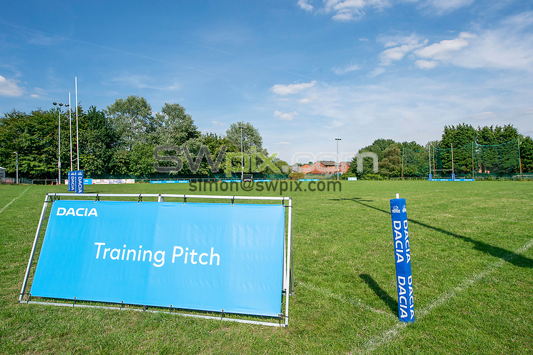 Picture by Allan McKenzie/SWpix.com - 25/07/2018 - Rugby League - Dacia Flair Play - New Spring Lions & Ince Rose Bridge RLFC, Ince-in-Makerfield, England - Training Pitch signage.