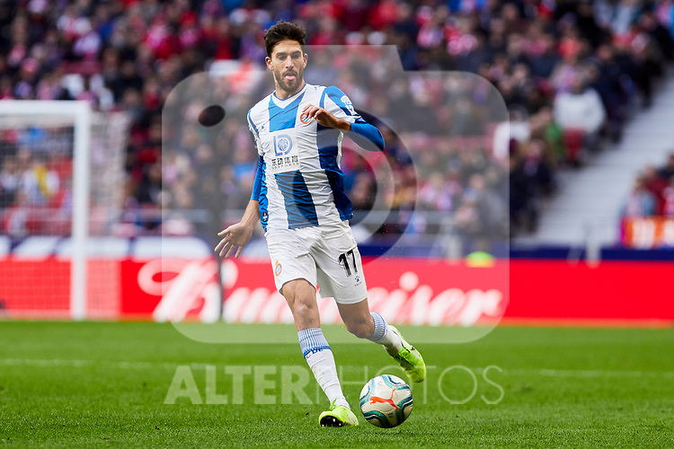 Dídac Vila of RCD Espanyol during La Liga match between Atletico de Madrid and RCD Espanyol at Wanda Metropolitano Stadium in Madrid, Spain. November 10, 2019. (ALTERPHOTOS/A. Perez Meca)