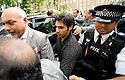 Pakistani cricketers arrive at the Pakistan High Commission in London today..Salman Butt...Picture by Gavin Rodgers/ Pixel 07917221968