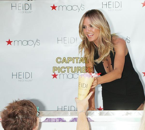 NEW YORK, NY-June 23: Heidi Klum host of HEIDI by HEIDI KLUM Lingerie Ice Cream Truck &amp; Shopping Party  at Macy's Herald Square   in New York. NY June 23, 2016.  <br /> CAP/MPI/RW<br /> &copy;RW/MPI/Capital Pictures