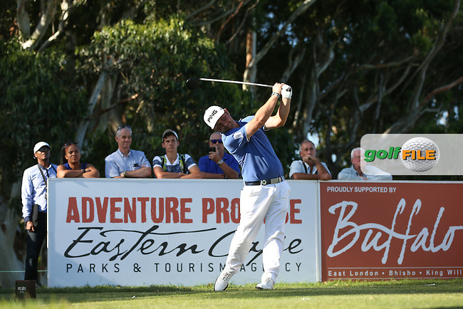 Missing the cut in style, Andy Sullivan (ENG) hits the driver on to the 16th for an eagle two, during Round Two of the Africa Open 2015 at the East London Golf Club, East London, Eastern Cape, South Africa. Picture:  David Lloyd / www.golffile.ie. 06/03/2015