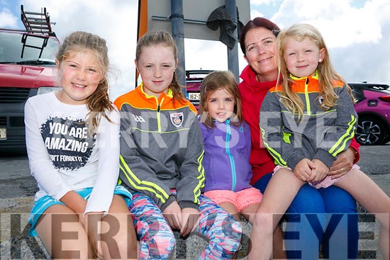 At the start of the 5km Sandstorm challenge last Saturday on Ballyheigue beach were Molly Donegan, Laura Ryan, Ava Ryan, Michelle Ryan and Jemma Ryan