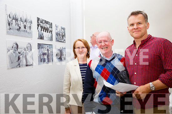 Looking back in time at a Photo Exhibition of work by Donal Ó Máirtín in the Cahersiveen Library on Saturday were Anne Coffey, Michael Quirke & Kevin O'Connor.