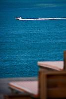 Europe/France/Aquitaine/33/Gironde/Bassin d'Arcachon/Pyla-sur-Mer: Plage et Terrasse de l'Hôtel La Co(o)rniche par  Philippe Starck avec une vue superbe sur les passesdu Bassin d'Arcachon et le banc d'Arguin