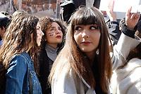 Roma, 15 Marzo 2019<br /> Migliaia di studentesse e studenti partecipano al Global Strike For Future, lo sciopero generale per il pianeta lanciato dalla 16enne Greta Thunberg diventata simbolo della lotta ai cambiamenti climatici