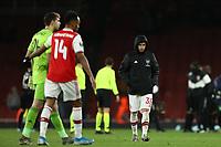 28th November 2019; Emirates Stadium, London, England; UEFA Europa League Football, Arsenal versus Frankfurt; A dejected Gabriel Martinelli of Arsenal after the 1-2 loss - Editorial Use