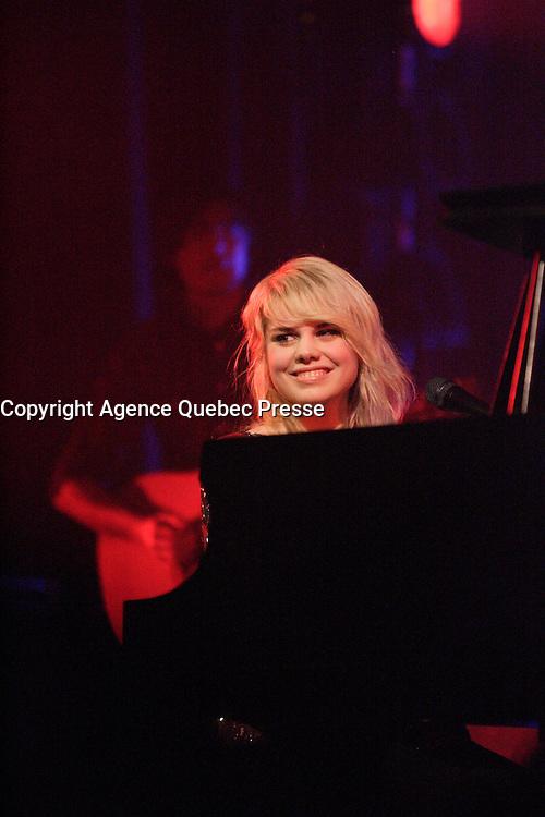 Montreal (QC) CANADA file photo - Feb 5 2010<br /> - Coeur de Pirate in concert